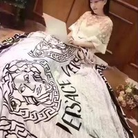 Versace Conditioning Throw Blanket Quilt For Bedroom Living Rooms Sofa