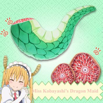 Anime Miss Kobayashi's Dragon Maid Tooru Dragon Tail Cushion U shape Sleep Hold Pillow Plush Doll Toys Cosplay Gift