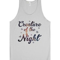 Creature of the Night-Unisex Silver Tank
