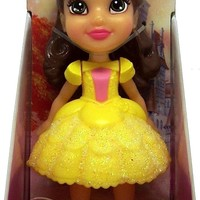 Disney Princess Poseable Belle Sparkle Collection Mini Toddler Doll 3""