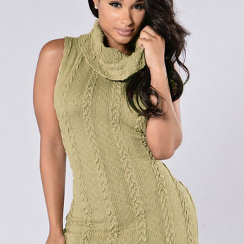 Cowl Neck Woolen Sleeveless Top