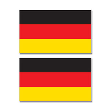 Germany Country Flag Sheet of 2 Stickers