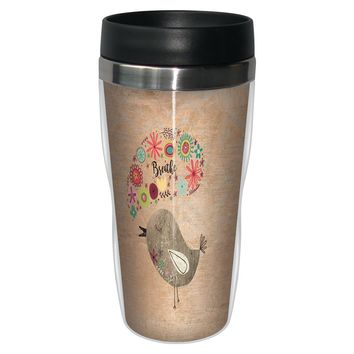 Good Morning Travel Mug - Premium 16 oz Stainless Lined w/ No Spill Lid