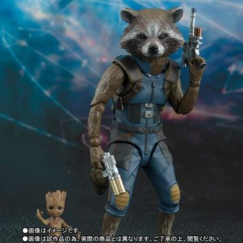 SHFiguarts SHF Guardians of the Galaxy Marvel Avengers Rocket Raccoon & Baby Tree Action Figures Toys for Christmas Birthday