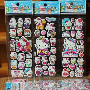Kawaii Stationery Office DIY Children Stickers Kids Creative Cute Hello Kitty Decorative Diary Label Scrapbook Sticker Girl Gift