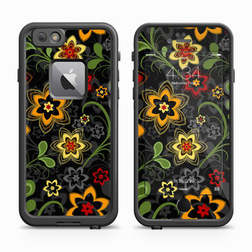 Abstract Vector Orange Flower Skin for the Apple iPhone LifeProof Fre Case