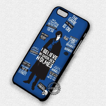 I Believe In Sherlock - iPhone 7 Plus 6 SE Cases & Covers