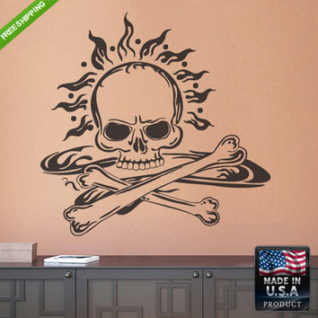 rvz200 Wall Decals Art Decor Kids Decal Sticker Cute Skull Bedroom