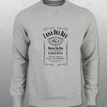 lana del rey sweater Gray Sweatshirt Crewneck Men or Women Unisex Size with variant colour