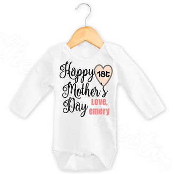 FREE SHIPPING: Customizable 1st Mother's Day Onesuit ~ First Mother's Day Onesuit ~ 1st Mothers Day ~ Unisex
