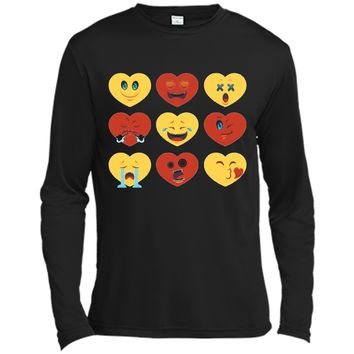 Heart Emoji  for Valentines Day - Show Your Love Long Sleeve Moisture Absorbing Shirt