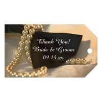 Bow Tie and Pearls Wedding Favor Tags