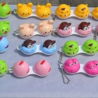 Cute Animal Face Contact Lens Case Five Pieces Per Set (Random)