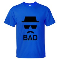 CRAZY POMELO Movie BreakingBad Bad Man Graphic Pint Men's T-shirt