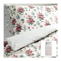 Ikea Emmie Sot Twin Duvet Cover Set Cottage Floral Pink Roses