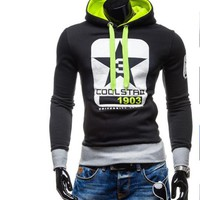 2017 Hoodies Men Sudaderas Hombre Hip Hop Mens Brand Digital Printing Pentagram Hoodie Sweatshirt   Men Hoody