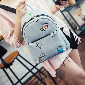 Vintage Fresh Students Backpack Female School Cute