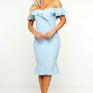 Sara Dress - Blue