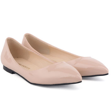 Sweet Candy Color Pointed Head Flat Shoes
