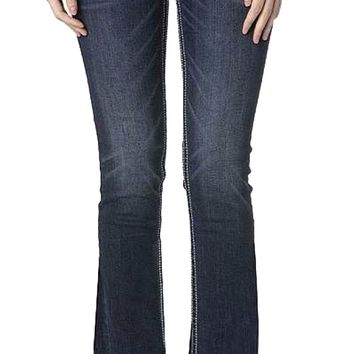 Miss Me Silver Sequin & Rhinestone Bootcut Jeans