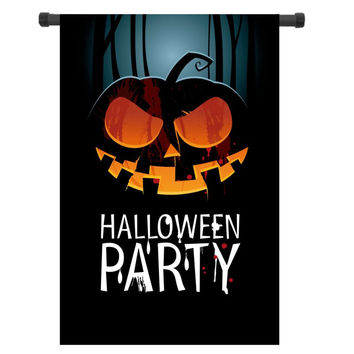 "12x18"" Halloween Party Garden Flag Hanging Flag House Decoration Printed Portable Outdoor Flags Home Banner Flags"
