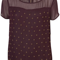 Gold Flower Embellished Tee - New In This Week  - New In