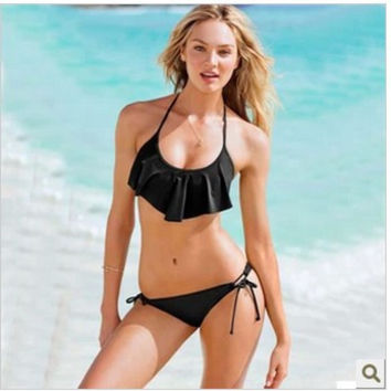 New Arrival Swimsuit Hot Summer Beach Sexy Swimwear Ruffle Ladies Swimming Bikini [10016845837]
