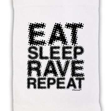 "Eat Sleep Rave Repeat Micro Terry Sport Towel 11""x18 by TooLoud"