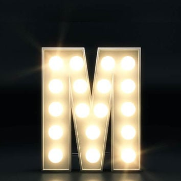 Initials in Stage Lights - Personalised name letters original CGI artwork. Dance, Drama, Broadway, Musical Theatre UNFRAMED print A4 or 5x7