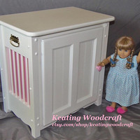 Doll Armoire Clothes Organizer perfect for the American Girl Doll and all 18 inch dolls handmade
