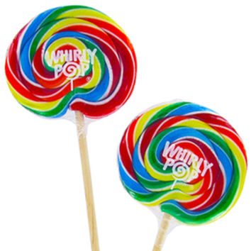 Whirly Pop 3-Ounce Swirl Suckers - Rainbow: 48-Piece Case