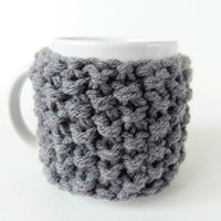 Coffee Cup Warmer - Mug Warmer - Chunky Knit Coffee Cozy - Mug Cozy - Mug Cover - Cup Cozy - Coworker Gift - Coffee Cup Sleeve - Coffee Gift