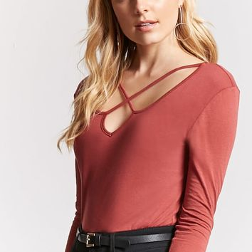 Strappy Knit Top