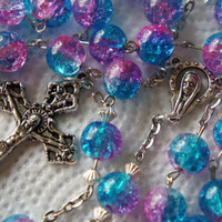 Rosary Cracked Ice Beads