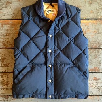 Crescent Down Works Italian Vest Navy 60/40 Cloth