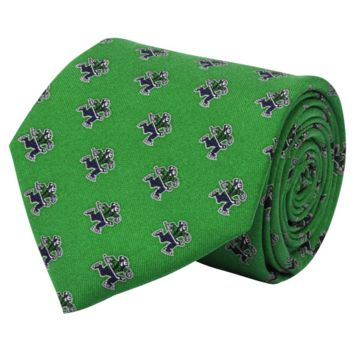 Vineyard Vines Vancouver Canucks Green Mini Logo Silk Tie