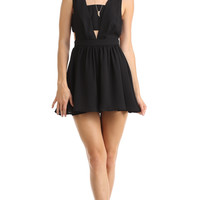 BLACK CUTOUT ROMPER