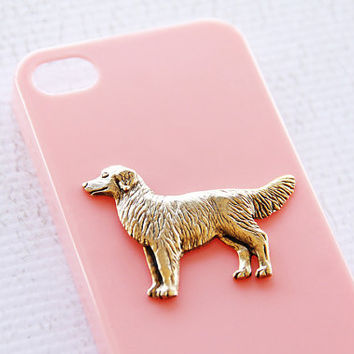 Retriever Apple iPhone 4S High Shine Gold Plated Plastic Hardshell Case in Pink iPhone 6