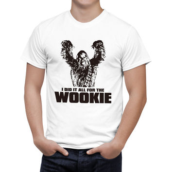 Star Wars Chewbacca Head Chewy Wookie T Shirt Men/Women Cotton Tees Short Sleeves Tops Boy/Girl Clothes B133
