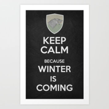 KEEP CALM POSTERS Collection By Misery | Society6