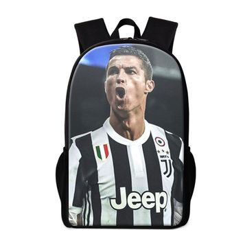 New Design Cool Backpacks for Teens Cristiano Ronaldo Back Pack for Youth Travling,School Book Bag for Children Lightweight Bags