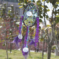 Dream Catcher With Feather Circular Wall Hanging Decoration Car Ornament Craft