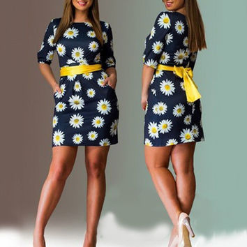 'Put On A Show' Flower Print Dress