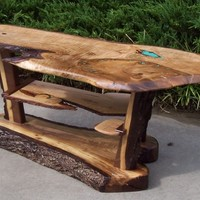 Custom Rustic Table: Bring the outdoors into your home.