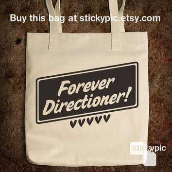 Cotton Tote Bag - Forever Directioner - One Direction - (Accessories Laptop Bag PC Apple Macbook Mac Geekery)