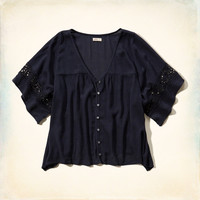 Button Front Boho Top