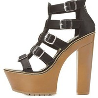 Dollhouse Chunky Platform Strappy Sandals