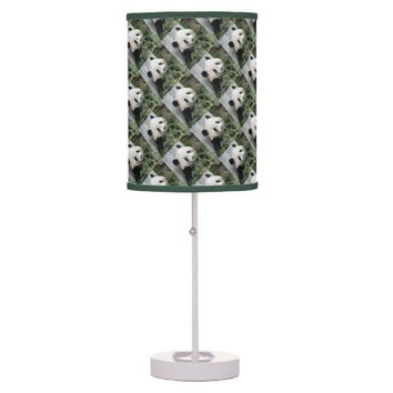 Cute Pandas Table Lamp, Green and White Table Lamp