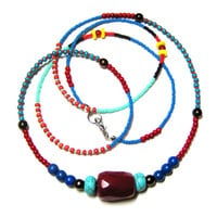 Long Seed Bead Necklace - Beaded Bohemian Necklace - Layering Necklace - Long Boho Necklace - Single Strand Necklace
