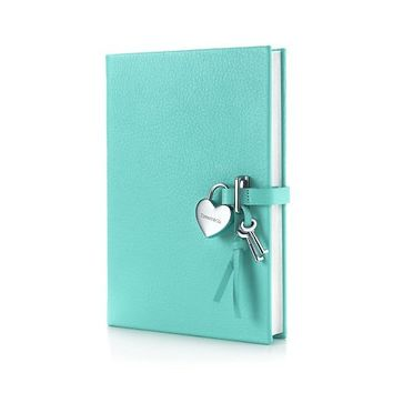 Tiffany & Co. -  Heart lock diary in Tiffany Blue® grain leather. More colors available.